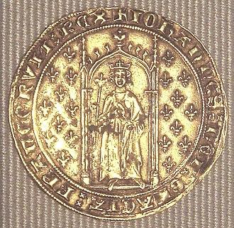 John II of France - A denier d'or aux fleurs de lys from John's reign (1351)