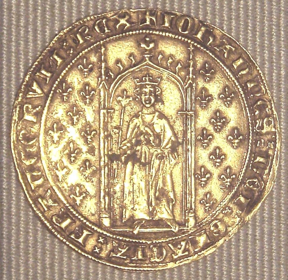 Jean II denier d Or aux fleurs de lys 1351