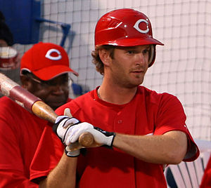 Jeff Keppinger - Keppinger during his tenure with the Cincinnati Reds in 2008 spring training