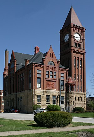 Fairfield, Iowa - Jefferson County Courthouse in Fairfield