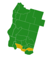 Jefferson Democratic Presidential Primary Election Results by County, 2016.png
