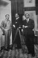 Jenő Janovics, Michael Curtiz, and Alexander Korda in Cluj, 1915.png