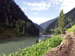 Jhelum River during the summer