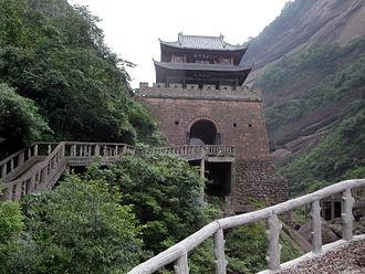 Conquest of Shu by Wei - A reconstruction of Jiange (Jianmen Pass) in present-day Jiange County, Sichuan