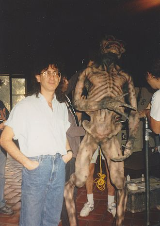Jimmy Lifton - Lifton on set with a monster circa 1994