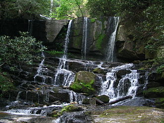 Foothills Trail - Virginia Hawkins Falls, located between Laurel Valley and Laurel Fork Falls
