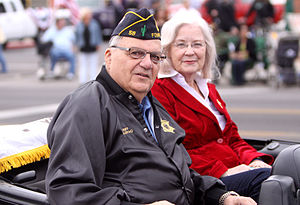 Joe Arpaio - Arpaio and his wife, Ava, at the 2011 Veterans Day parade in Phoenix, Arizona