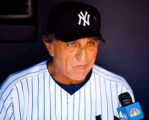 Joe Pepitone - Pepitone at the 2009 Yankees' Old-Timers' Day