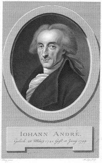 Johann André - Johann André. Portrait by  Johann Heinrich Lips