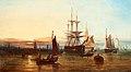 Johannes Hermanus Barend Koekkoek - Ships at dusk (1864).jpg