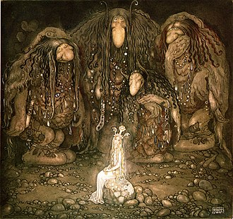 Troll - Look at them, troll mother said. Look at my sons! You won't find more beautiful trolls on this side of the moon. (1915) by John Bauer