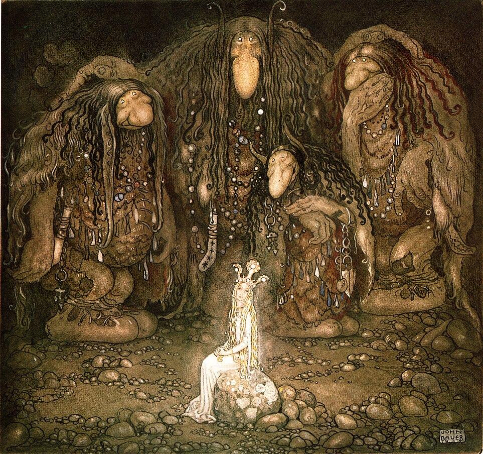 Trolls by John Bauer.  1915.