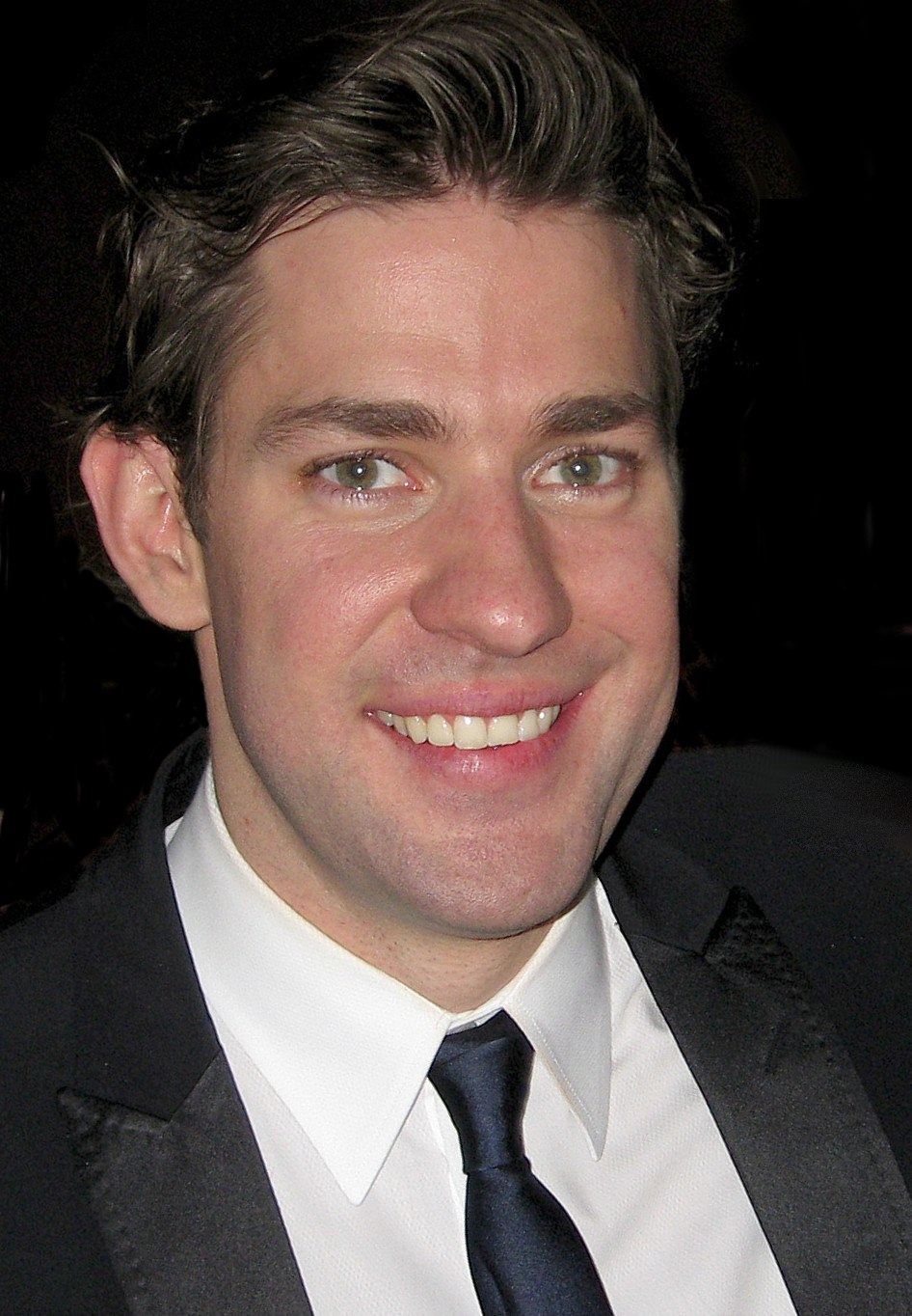 John Krasinski and Josh Wood (cropped)