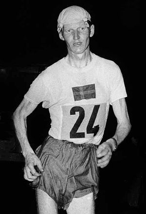 John Ljunggren - Ljunggren racing at the 1960 Olympics
