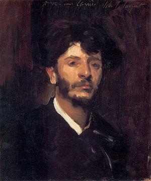 Jean-Joseph Carriès - Portrait of Jean-Joseph Carriès by John Singer Sargent
