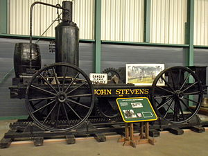 John Stevens (inventor) - Replica of John Stevens' steam carriage