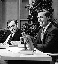 Woody Allen con Johnny Carson al The Tonight Show (1964)