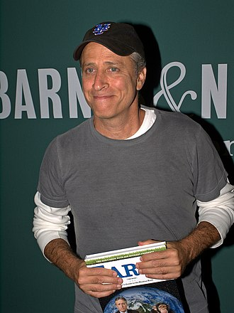 Jon Stewart - Stewart at the launch of his book, Earth (The Book), in New York, September 27, 2010