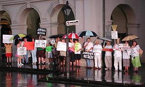 Eddie Jordan (attorney) - Protesters calling for Jordan's resignation, July 2007