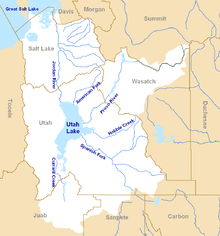 The Jordan River Basin is in northern Utah.