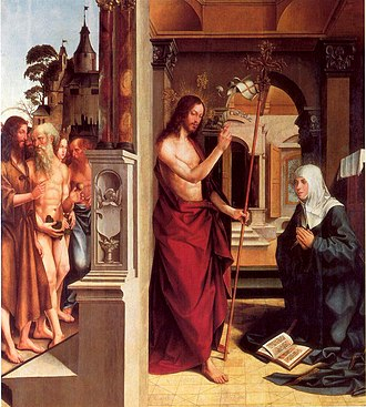 Jorge Afonso - Jesus visiting Maria by Jorge Afonso (ca. 1515), from the main altarpiece of the Madre de Deus church in Lisbon, now in the National Museum of Ancient Art.