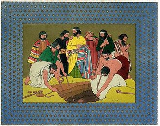 Coat of many colors - Joseph cast into the pit.