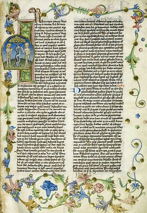 Antiquities of the Jews - A leaf from the 1466 manuscript of the Antiquitates Iudaice, National Library of Poland.