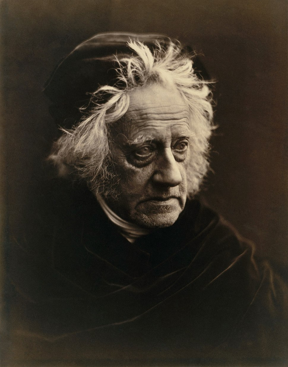 Julia Margaret Cameron - John Herschel (Metropolitan Museum of Art copy, restored) levels