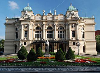 Juliusz Słowacki Theatre - Juliusz Słowacki Theatre, front entrance