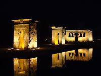 July 2014 Temple of Debod in Madrid, Spain ' Photographed at Night.JPG
