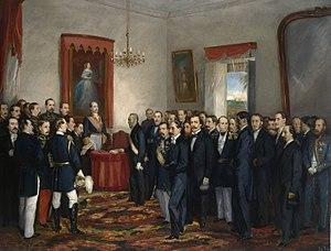 Jura del gobernador y capitán general de Santo Domingo, don Pedro Santana (Museo del Prado).jpg