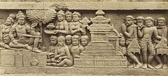 KITLV 40087 - Kassian Céphas - Relief of the hidden base of Borobudur - 1890-1891.jpg