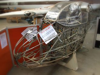 Schleicher Ka-4 Rhönlerche II - Rhönlerche fuselage showing underlying welded steel tube structure