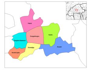 Kadiogo Province - Image: Kadiogo departments