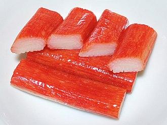 Crab stick - Crab sticks – imitation crab meat surimi.