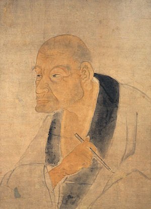 Kanō Tan'yū - Portrait of the artist, attributed to pupil Momoda Ryûei.