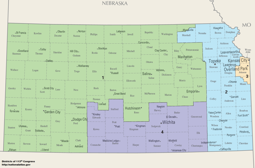 Kansas Congressional Districts, 113th Congress