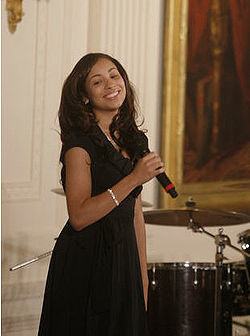 Karina Pasian sings at the White House.jpg