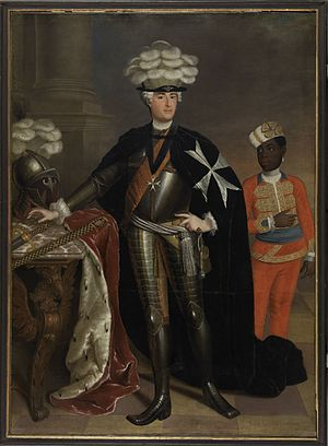 Charles Frederick Albert, Margrave of Brandenburg-Schwedt - Margrave Charles of Brandenburg-Schwedt, in his robes as Grand Master of the Order of Saint John; painting by Anna Rosina de Gasc, 1737