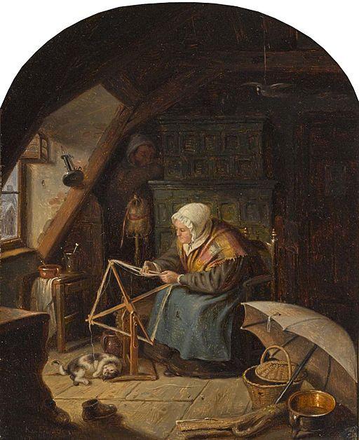 Karl von Enhuber Frau mit Haspel