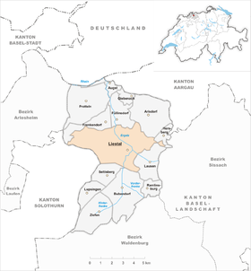 Map of Liestal