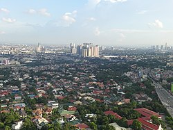 Katipunan area with Eastwood (view from SMDC Blue) (Quezon City and Marikina)(2017-09-06).jpg