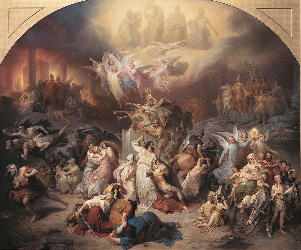 Kaulbach Zerstoerung Jerusalems durch Titus