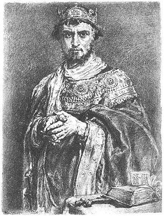 Casimir I the Restorer - Jan Matejko's depiction of young Casimir