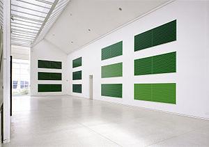Horst Keining - Horst Keining - Streifenbilder (Stripe paintings), each 110 cm x 320 cm, oil on canvas, 1996 at Art Association, 1998, Copyright Norbert Faehling and the artist