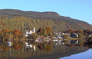 Kenmore viewed across Loch Tay.