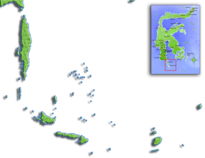 Selayar Islands - Map showing the location of the islands