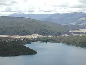 Saint Arnaud, New Zealand - View over Lake Rotoiti and St Arnaud