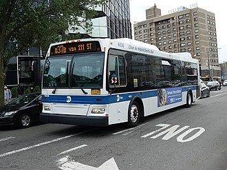 Q37 (New York City bus) - A Q37B bus in Kew Gardens in 2018.
