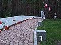 Kijów-Bykownia, alejka z tabliczkami epitafijnymi 3435 oficerów i obywateli polskich - path with epitaphs plates 3435 Polish officer and citizen - panoramio (3).jpg